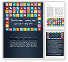 Business Concepts: Grid Designed Flat Icons Word Template #13670