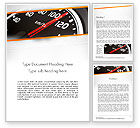 Cars/Transportation: Speed Meter Gauge Word Template #13675