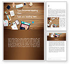 Business: Conference Top View Word Template #13679