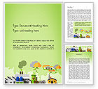 Nature & Environment: Planet Pollution Word Template #13681