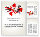 Holiday/Special Occasion: Romantic Dinner Invitation Word Template #13688