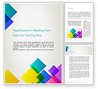 Abstract/Textures: Colorful Overlapping Transparent Squares Word Template #13696