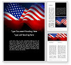 America: Flag of the United States Word Template #13711