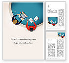 Business Concepts: Meeting Top View Flat Design Word Template #13718