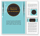 Abstract/Textures: Round Frame and Turquoise Word Template #13720