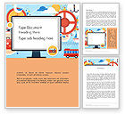 Holiday/Special Occasion: Vacation Background Word Template #13723
