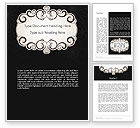 Abstract/Textures: Black and White Quinceanera Frame Word Template #13724