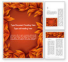 Abstract/Textures: Orange Leaves Frame Word Template #13726