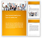 People: Rejoicing Business People Word Template #13735