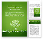 Nature & Environment: Green Tree and Grass Illustration Word Template #13741