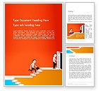 Careers/Industry: Climbing Ladder Illustration Word Template #13744