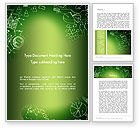 Business Concepts: Charts and Shapes on Chalkboard Word Template #13749