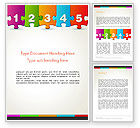 Business Concepts: Jigsaw Puzzle Piece with Numbers Word Template #13755