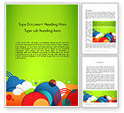 Education & Training: Childish Illustration Word Template #13758