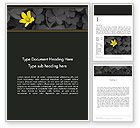 Nature & Environment: Yellow Flower on Gray Leaves Word Template #13760
