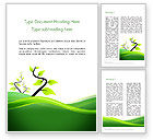 Nature & Environment: Spring Background Word Template #13768