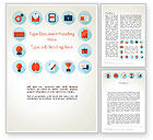 Education & Training: Flat Icons On Education Theme Word Template #13769