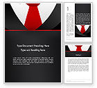 Business: Formal Suit Word Template #13774