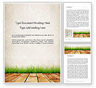 Careers/Industry: Wooden Floor Terrace Word Template #13775