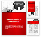 Education & Training: Magnifying Glass Searching Missing Puzzle Piece Word Template #13780