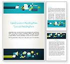 Careers/Industry: Flat Design Ads Word Template #13781