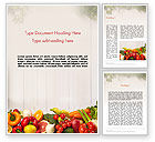 Agriculture and Animals: Fruits and Vegetables Word Template #13782