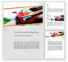 Sports: Speedy Car Word Template #13787