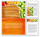 Food & Beverage: Fruits Collage Word Template #13811