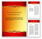 Abstract/Textures: Golden Frame on Brocade Ornament Word Template #13822
