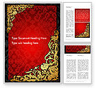 Holiday/Special Occasion: Elegant Pattern Invitation Word Template #13834
