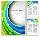Abstract/Textures: Paper Strips in Rainbow Colors Word Template #13835