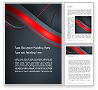 Abstract/Textures: Abstract Curved Lines Word Template #13838