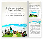 Careers/Industry: Travel The World Word Template #13846