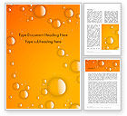 Food & Beverage: Orange Water Bubbles Word Template #13847