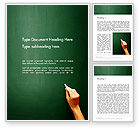 Education & Training: Empty Blackboard with Hand and Chalk Word Template #13852