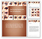 People: Peoples Eyes Word Template #13853