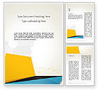 Business: Set of Flat Layers Word Template #13858