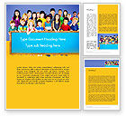 Education & Training: Diverse Preschool Children Word Template #13859