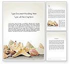 Agriculture and Animals: Modello Word - Starfish con conchiglie #13860
