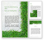 Nature & Environment: Grass and Concrete Word Template #13868
