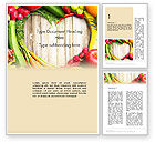 Agriculture and Animals: Love Fruit and Veg Word Template #13871