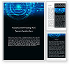 Technology, Science & Computers: Digital Technology Abstract Word Template #13872