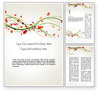 Nature & Environment: Branch with Autumn Leaves Word Template #13874