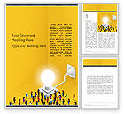 Business Concepts: Crowd of People Committed to Idea Word Template #13875