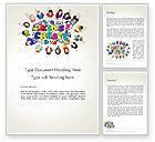 Education & Training: Hello Kindergarten Word Template #13883