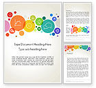 Business: Descriptive Circles Word Template #13897