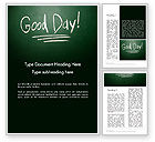 Business Concepts: Good Day Writing On Blackboard Word Template #13903