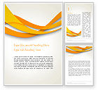 Abstract/Textures: Orange Waves Abstract Word Template #13904