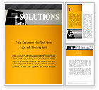 Business Concepts: Press The Solution Key Word Template #13907