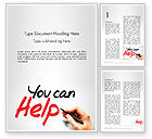 Religious/Spiritual: You Can Help Word Template #13909